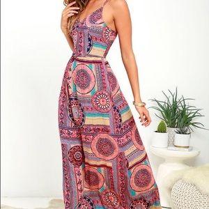 Lulus Sunrise to Sunset Maxi Dress 😍